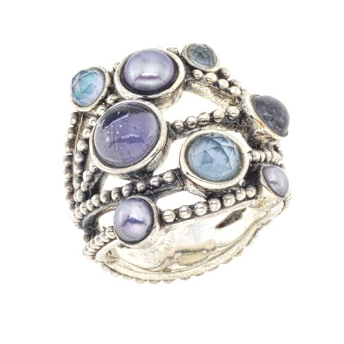 Stephen Dweck Stacked Blue Ring