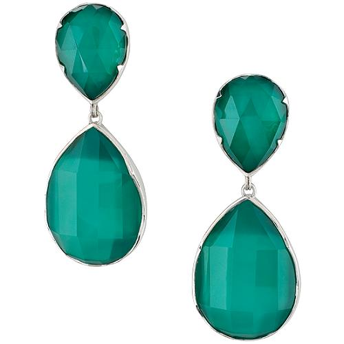 Stephen Dweck Zermatt Green Agate Drop Earrings