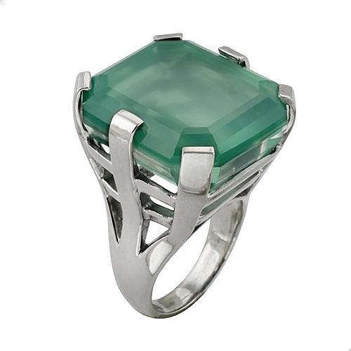 Stephen Dweck Zermatt Green Quartz Ring - Size 7