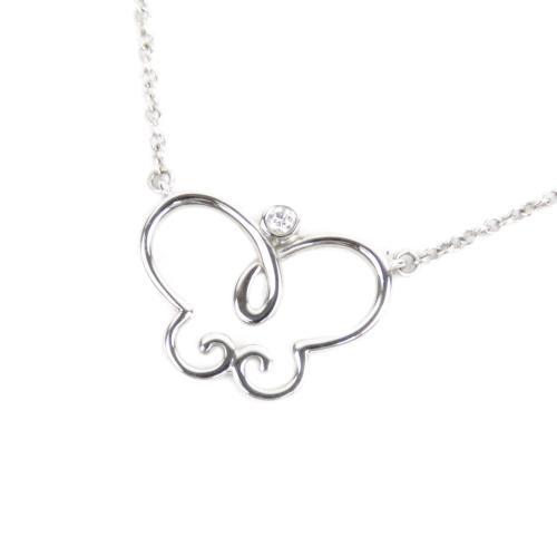 Tiffany & Co. 18K Butterfly Pendant Necklace