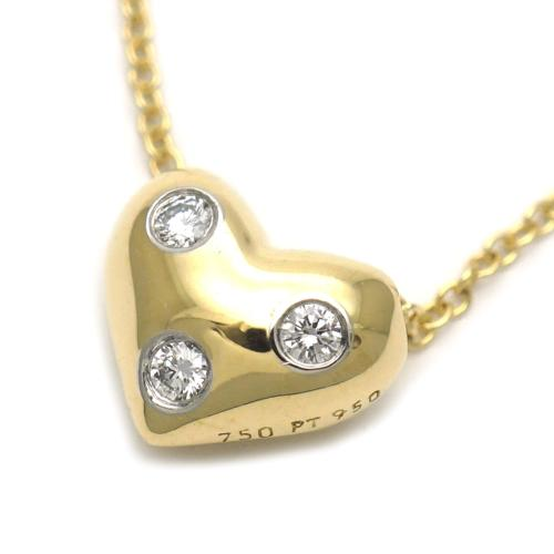 Tiffany & Co. 18K Diamond Heart Pendant Necklace