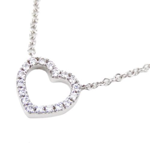 Tiffany & Co. 18K Metro Heart Diamond Necklace