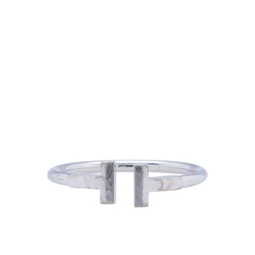 Tiffany & Co. 18kt White Gold T-Ring - Size 10 1/2 - FINAL SALE