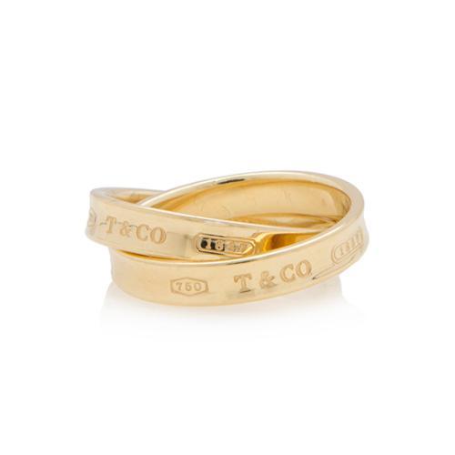 7770c6c742b1e Tiffany & Co. 18kt Yellow Gold 1837 Interlocking Circles Ring - Size 6