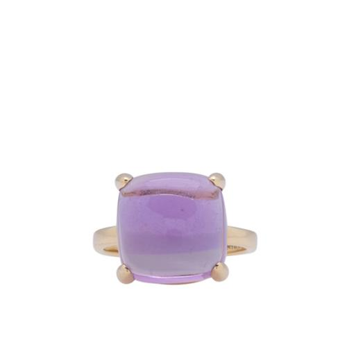 Tiffany & Co. 18kt Yellow Gold Amethyst Sugar Stack Ring - Size 6