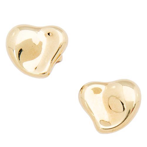Tiffany & Co. 18kt Yellow Gold Full Heart Earrings