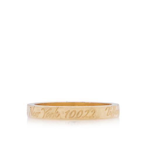 Tiffany & Co. 18kt Yellow Gold New York Notes Ring - Size 6