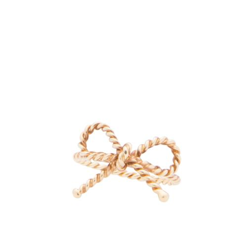 Tiffany & Co. 18kt Yellow Gold Twist Bow Ring - Size 5