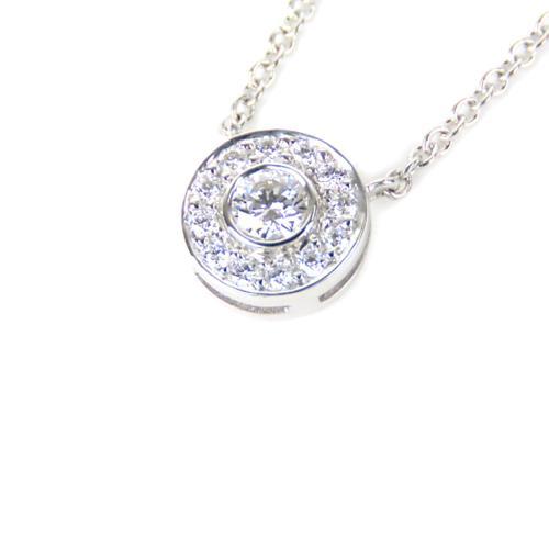 Tiffany & Co. Diamond Circle Pendant Necklace