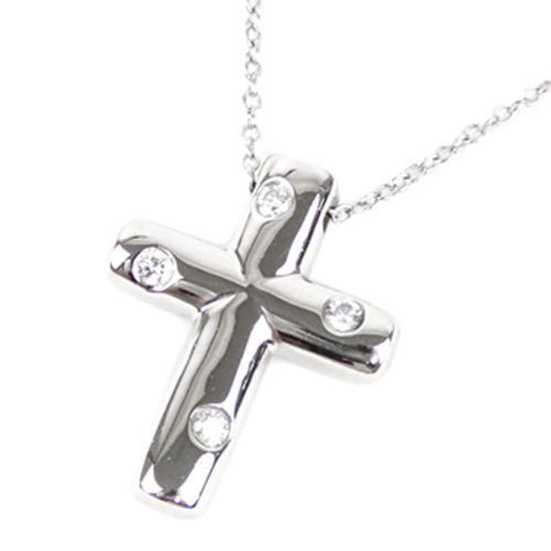 Tiffany & Co. Diamond Cross Pendant Necklace