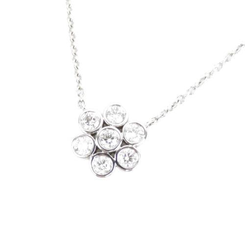 Tiffany & Co. Diamond Garden Flower Pendant Necklace