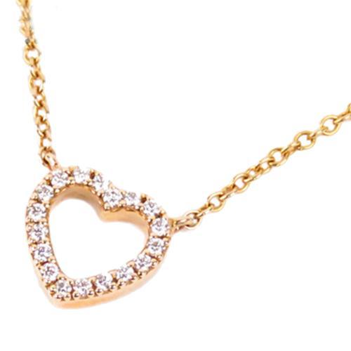 Tiffany & Co. Metro Heart Diamond Necklace