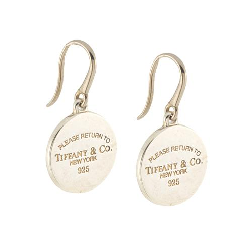 Tiffany Co Return To Round Tag Drop Earrings