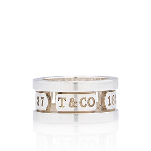Tiffany & Co. Sterling Silver 1837 Cutout Ring - Size 4 1/2