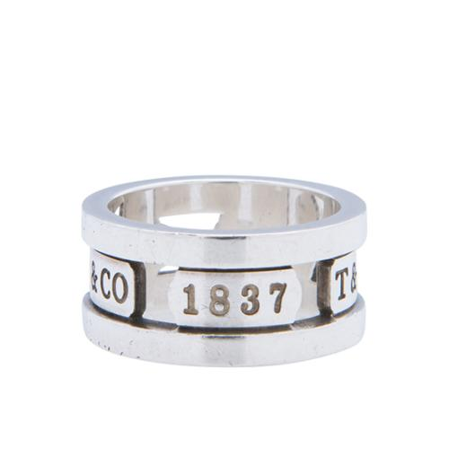 Tiffany & Co. Sterling Silver 1837 Cutout Ring - Size 5 1/2