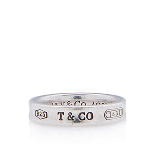 Tiffany & Co. Sterling Silver 1837 Thin Ring - Size 5