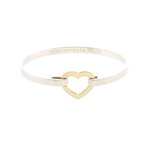 on slip bangle double qgbr applesofgold heart com sterling bangles silver bracelet