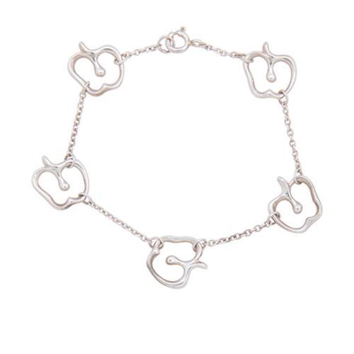Tiffany & Co. Sterling Silver Apple Bracelet