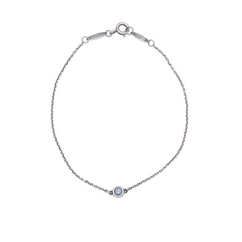 Tiffany & Co. Sterling Silver Aquamarine Color by the Yard Bracelet