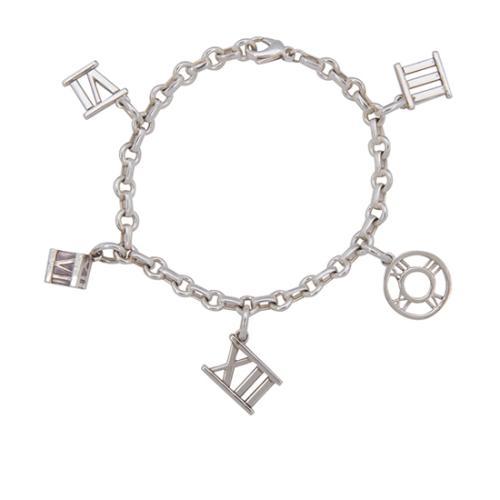 Tiffany & Co. Sterling Silver Atlas Charm Bracelet