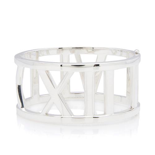 Tiffany & Co. Sterling Silver Atlas Wide Bangle Bracelet