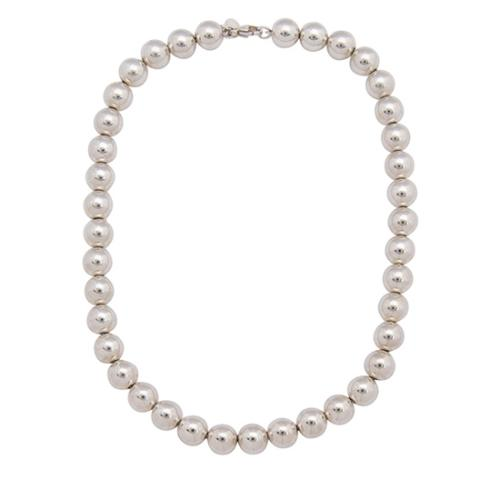Tiffany & Co. Sterling Silver Bead Necklace