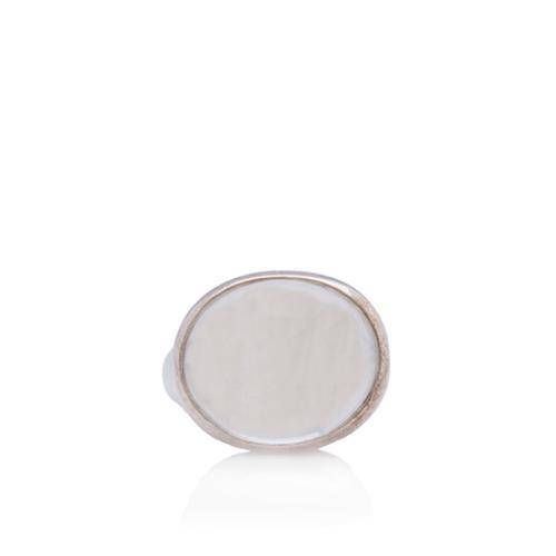 Tiffany & Co. Sterling Silver Elsa Peretti 19mm Cabachon Ring - Size 8 1/2