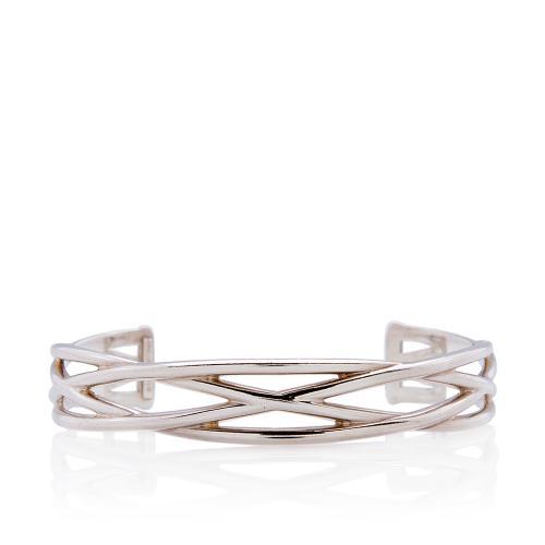 Tiffany & Co. Sterling Silver Crossover Cuff Bracelet
