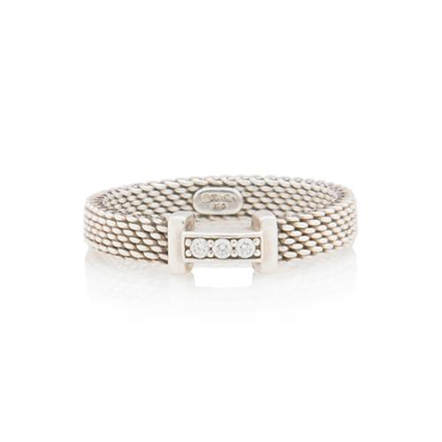 7654bb10d82 Tiffany-and-Co-Sterling-Silver-Diamond-Somerset-Ring --Size-75 87521 front large 0.jpg