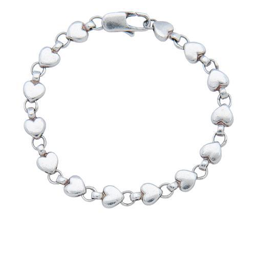 Tiffany & Co. Sterling Silver Elsa Peretti Mini Heart Link Bracelet
