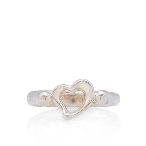 Tiffany & Co. Sterling Silver Elsa Peretti Open Heart Ring - Size 7 1/2