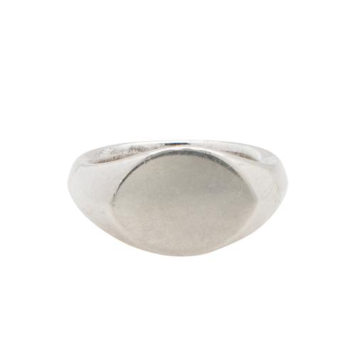 Tiffany & Co. Sterling Silver Elsa Peretti Oval Ring - Size 4 - FINAL SALE