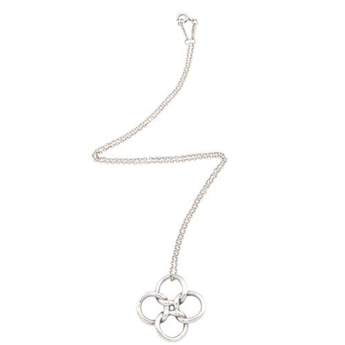 Tiffany & Co. Sterling Silver Elsa Peretti Quadrifoglio Necklace