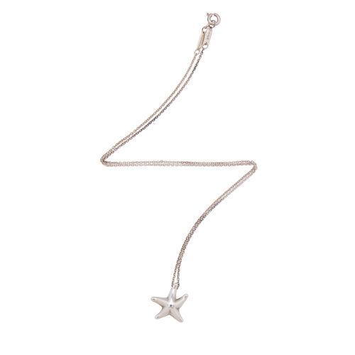 Tiffany & Co. Sterling Silver Elsa Peretti Starfish Pendant Necklace
