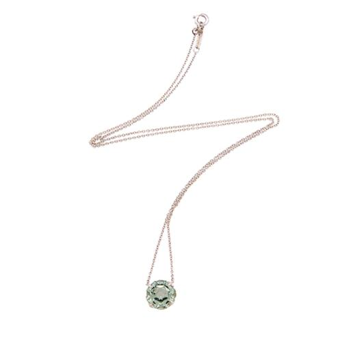Tiffany & Co. Sterling Silver Green Quartz Sparklers Necklace