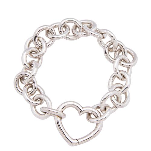 Tiffany & Co. Sterling Silver Heart Clasp Bracelet