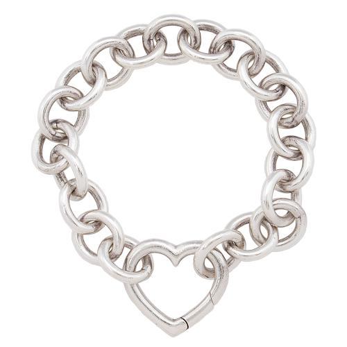 Tiffany & Co. Sterling Silver Heart Clasp Bracelet