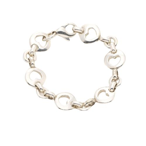 b60650939c48b Tiffany & Co. Sterling Silver Heart Stencil Bracelet
