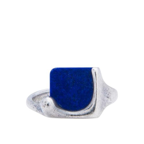 Tiffany & Co. Sterling Silver Lapis Lazuli Square Ring - Size 7
