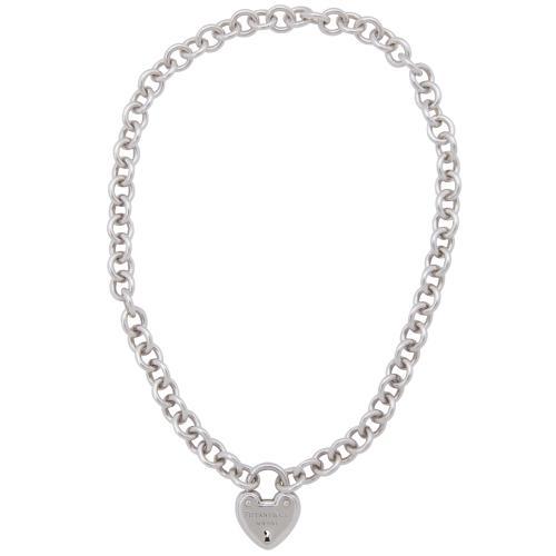 Tiffany & Co. Sterling Silver Love Lock Heart Necklace
