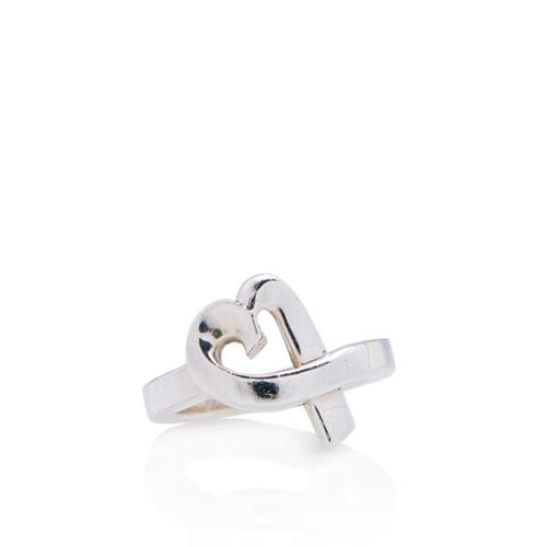 Tiffany & Co. Sterling Silver Paloma Picasso Loving Heart Ring - Size 5