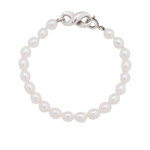 Tiffany & Co. Sterling Silver Pearl Infinity Bracelet