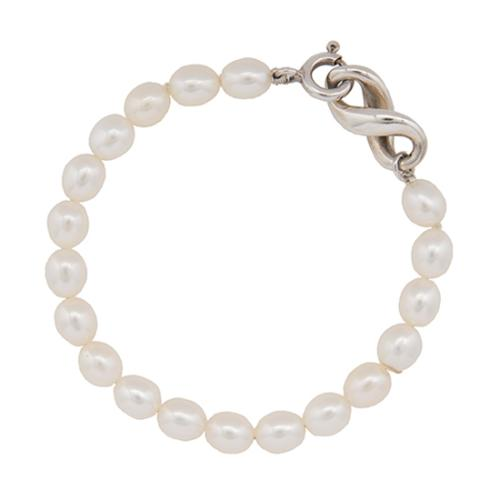da1f826b574ed Tiffany & Co. Sterling Silver Pearl Infinity Bracelet