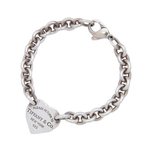 Tiffany & Co. Sterling Silver Return To Tiffany Heart Tag Bracelet