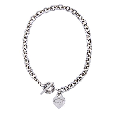 Tiffany & Co. Sterling Silver Return To Tiffany Heart Toggle Necklace