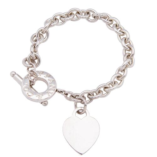 Tiffany & Co. Sterling Silver Return to Tiffany Heart Tag Toggle Bracelet