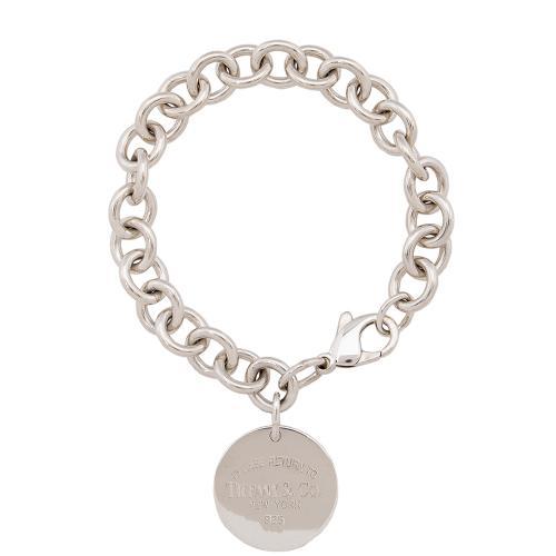 Tiffany & Co. Sterling Silver Return to Tiffany Round Tag Charm Bracelet