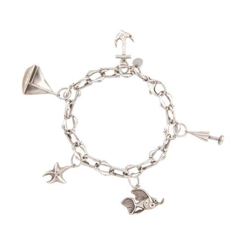 Tiffany & Co. Sterling Silver Seas Charm Bracelet