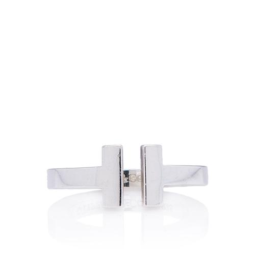 Tiffany & Co. Sterling Silver T Square Ring - Size 5
