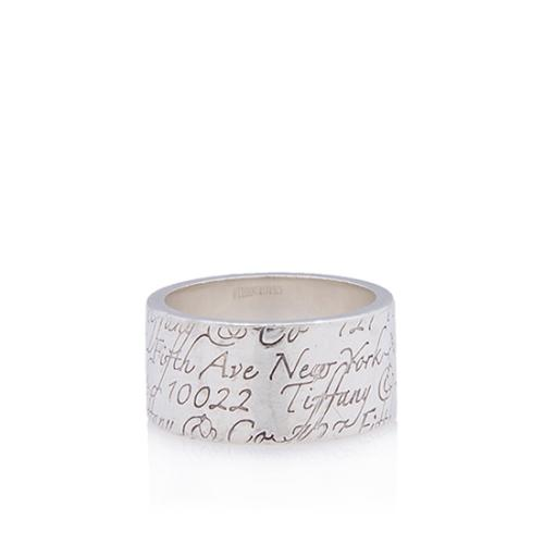Tiffany & Co. Sterling Silver Tiffany Notes Band Ring - Size 7 1/2
